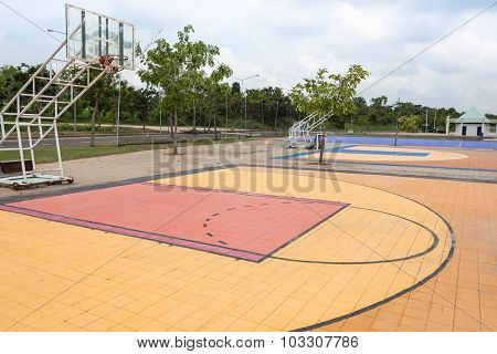 Outdoor Street Basketball Court.