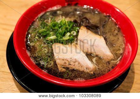 Black garlic oil japanese ramen