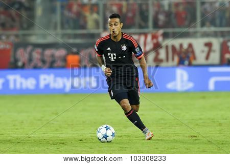Thiago Alcantara During The Uefa Champions League Game Between Olympiacos And Bayern, In Athens, Gre