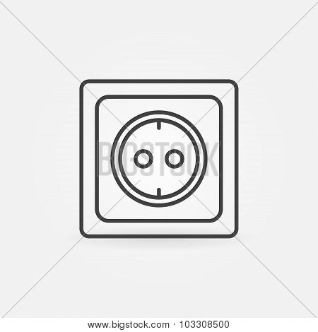 European electrical outlet