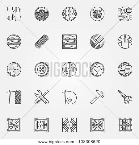 Hand made line icons