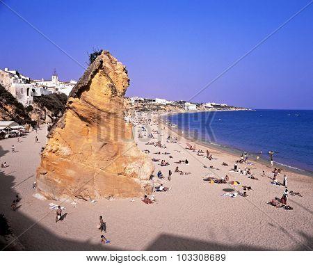 Albufeira beach, Portugal.