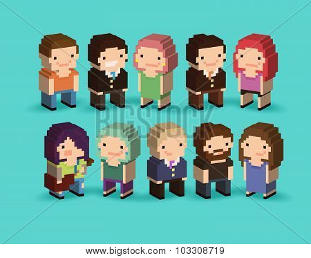 3D Pixel People