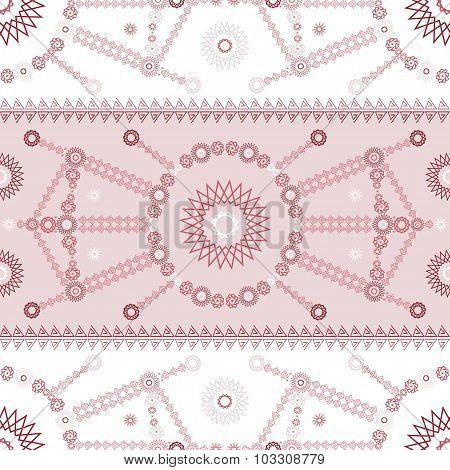 Vector ethnic modern geometric seamless pattern ornament