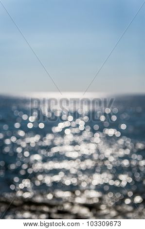 Sea And Sky, Blurred Background
