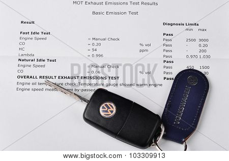 Volkswagen emissions test report