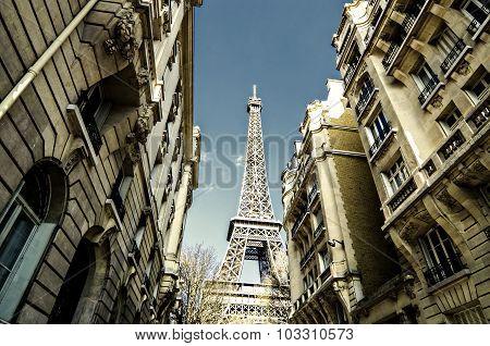Paris Street , Eiffel Tower, France
