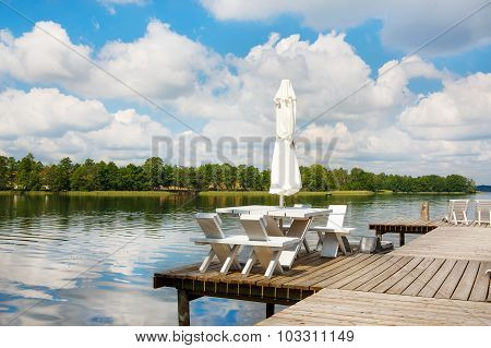 Beautiful View Of The Lake In Masuria District, Poland