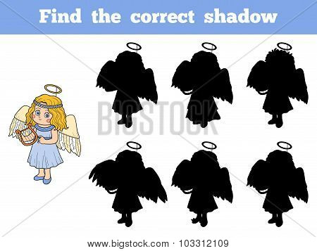 Find The Correct Shadow: Halloween Characters (angel)