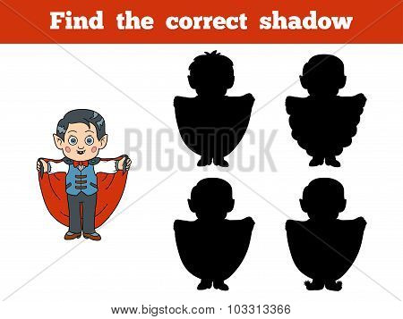 Find The Correct Shadow: Halloween Character (vampire)