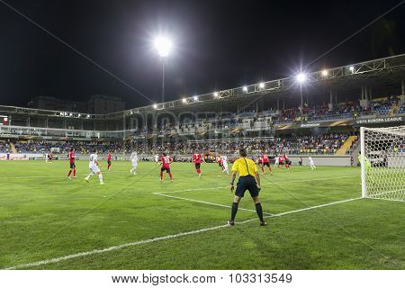 Uefa Europa League Game Between Qabala And Paok, In Baku, Azerbaijan.