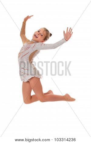 Little girl jumping