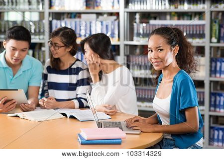 Student Friends In Library