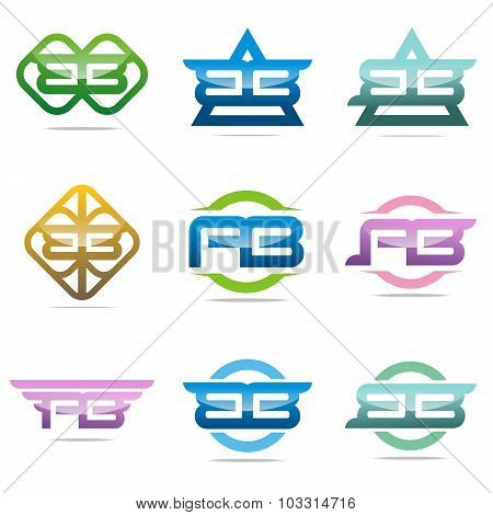 Logo all sales Letter A B abstract symbol