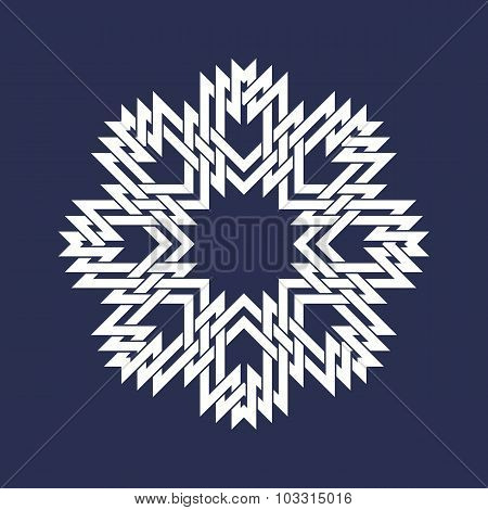 Circular pattern in Asian intersecting lines style.