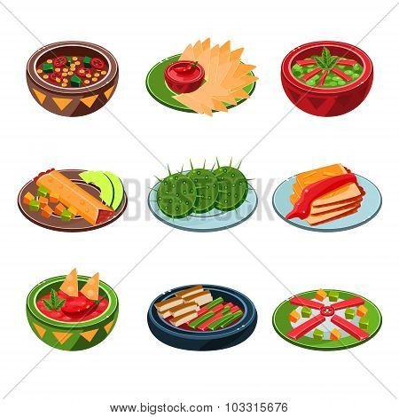 Mexican Traditional Food Set