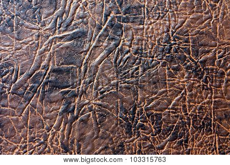 Brown Artificial Leather Texture.