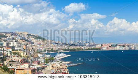 Gulf Of Naples, Cityscape Under Blue Sky