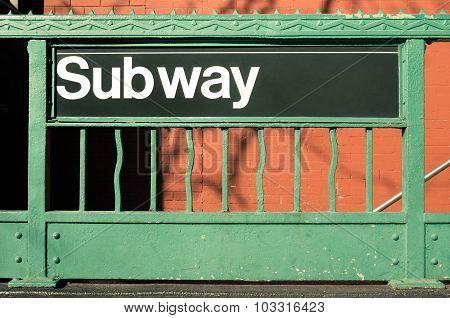 Subway Entrance - New York City Style