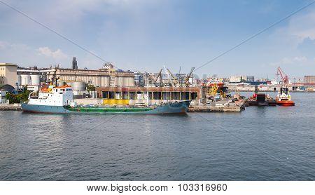 Port Of Naples, Coastal Cityscape With Ships