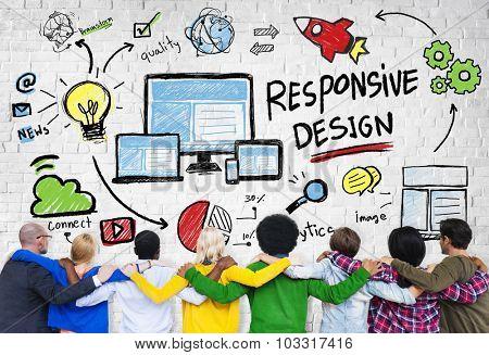 Responsive Design Internet Web Online People Friendship Concept