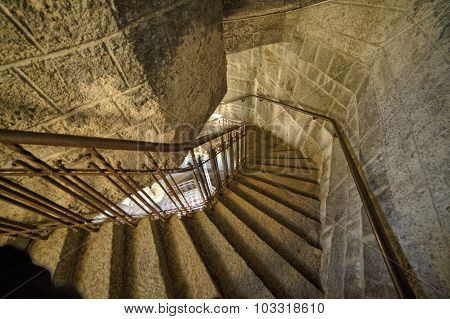 Curved Staircase In Tower