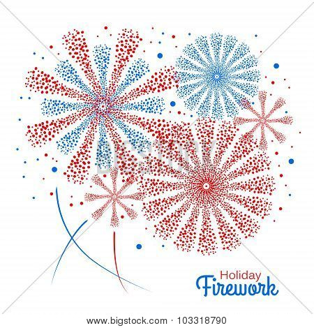 Vector Holiday Firework