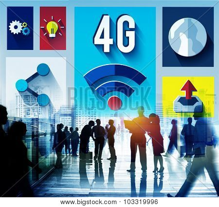 4G Technology Internet Communication Connection Concept