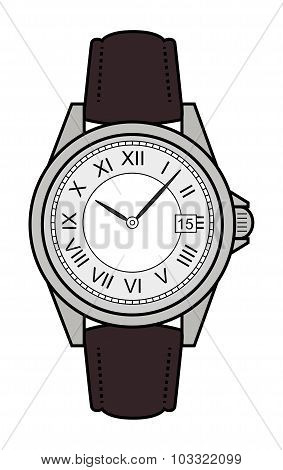 Business style hand watches. Color