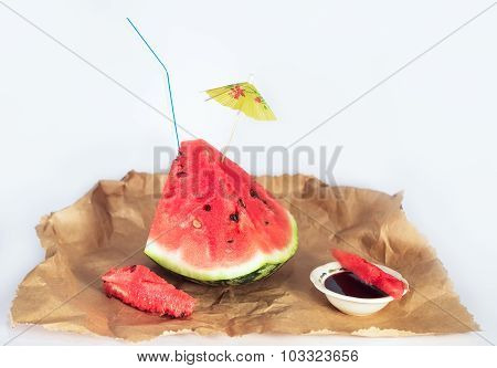 Watermelon With Lingonberry Jam