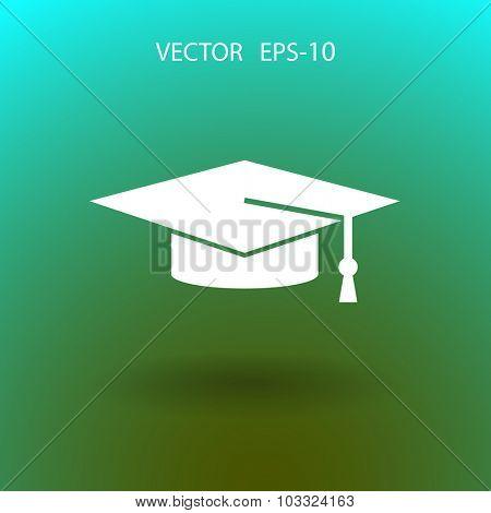Flat  icon of graduate cap
