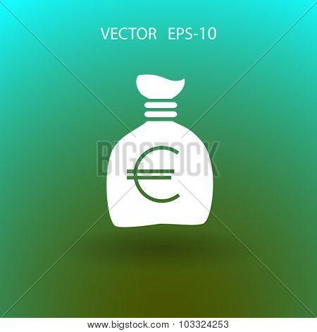 Money bag icon, vector illustration