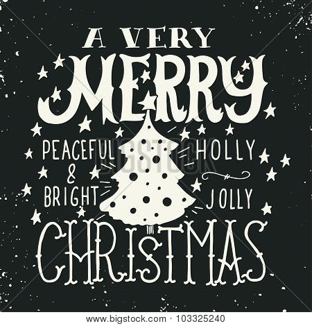 A Very Merry Christmas. Greeting Card.