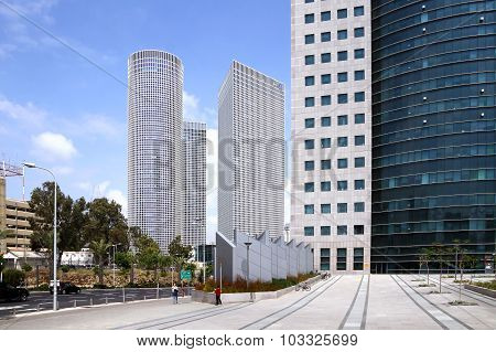 Azrieli Skyscrapers In Tel Aviv