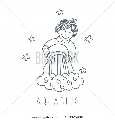 Illustration Of The Water-bearer (aquarius)