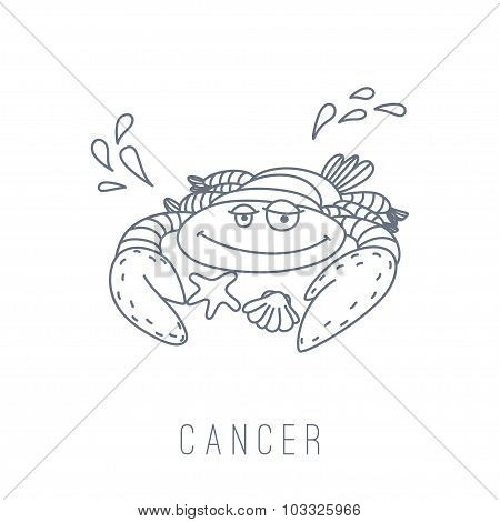 Illustration Of The Crab (cancer)