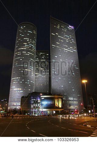 Azrieli Skyscrapers In Evening