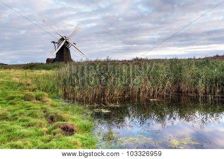 Dusk At Herringfleet Windmill