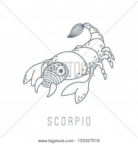 Illustration Of The Scorpion (scorpio)