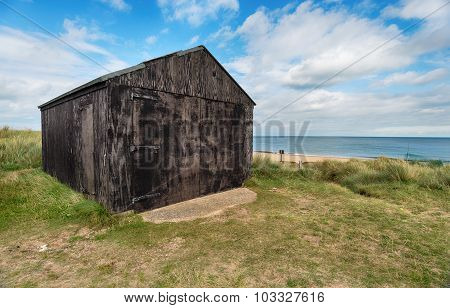 Beach Hut At Winterton On Sea In Norfolk
