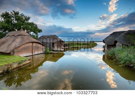 Thatched Boat Houses