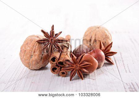 cinnamon,anise and walnut