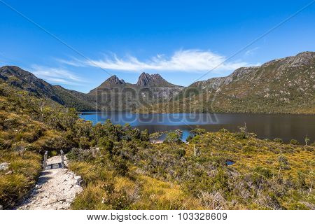 Walkway to Cradle Mountain