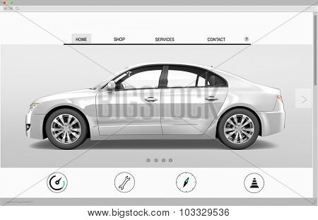 Website Advertising Car Homepage New Arrival Concept