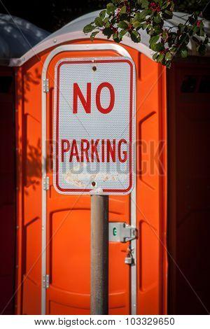 No Parking at Port-a-Potty