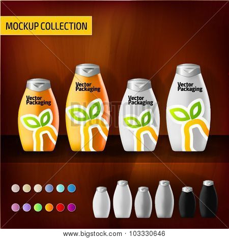 Mockup template bottles for branding and product designs