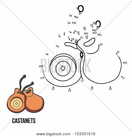 Numbers Game For Children: Musical Instruments (castanets)