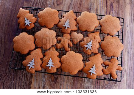 homemade delicious gingerbread cookie - sweet food