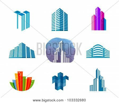 house vector logo design template. city or building icon