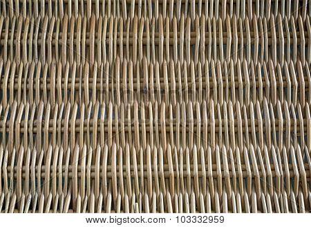 Wicker Panel From A Rod